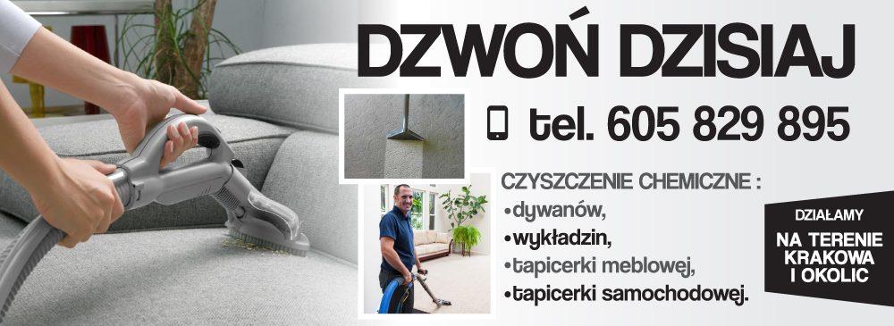 Czyszczenie tapicerki i dywanów w Krakowie